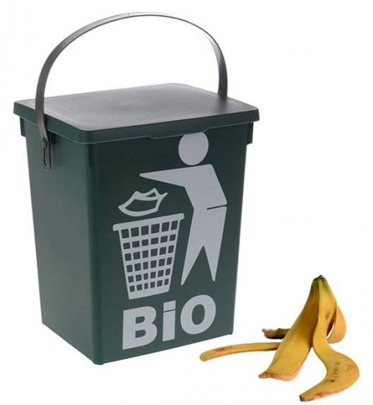 EXCELLENT HOUSEWARE Kosz z pokrywą na odpady BIO 5l