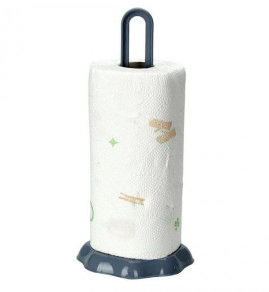 EXCELLENT HOUSEWARE Stojak na ręczniki papierowe / szaro - niebieski