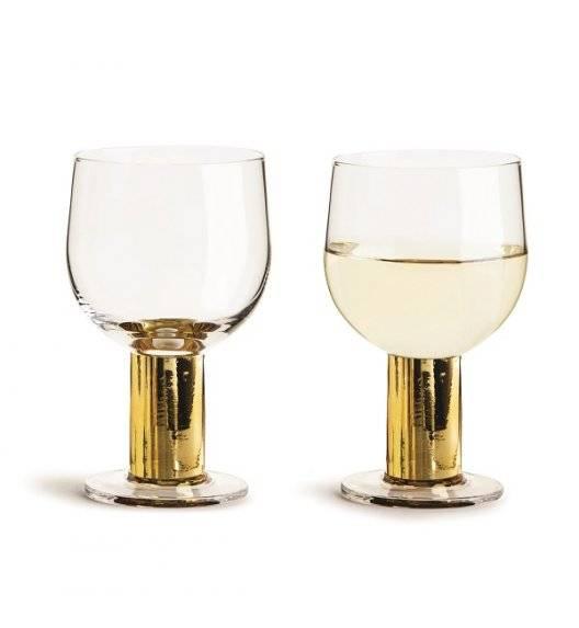 SAGAFORM CLUB Zestaw 2 pozłacanych kieliszków do wina 0,22 l / pudełko prezentowe