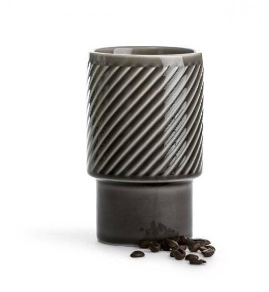 SAGAFORM COFFEE Kubek ceramiczny 0,4 l / szary