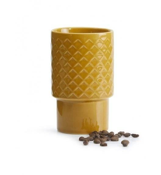 SAGAFORM COFFEE Kubek ceramiczny 0,4 l / żółty