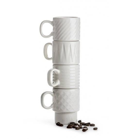 SAGAFORM COFFEE Zestaw 4 filiżanek do espresso 100 ml / białe / ceramika