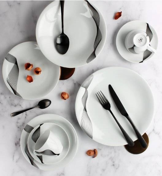 KRISTOFF OLYMPIA CHANTAL Serwis obiadowo - kawowy 60 el / 12 osób / porcelana