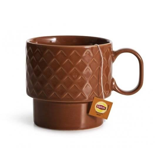 SAGAFORM COFFEE Filiżanka do herbaty 0,4 l / czerwona / ceramika