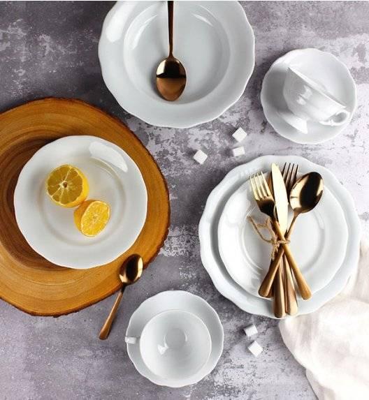 KRISTOFF ALASKA Serwis obiadowo - kawowy 60 el / 12 osób / porcelana