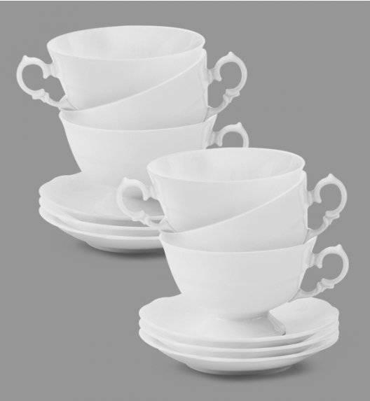 KRISTOFF ALASKA Komplet Filiżanka 200 ml + spodek 14 cm / 6 os / 12 el / porcelana