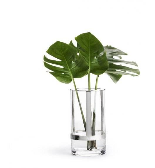 SAGAFORM INTERIOR Szklany wazon z metalowym elementem / 11 x 20 cm