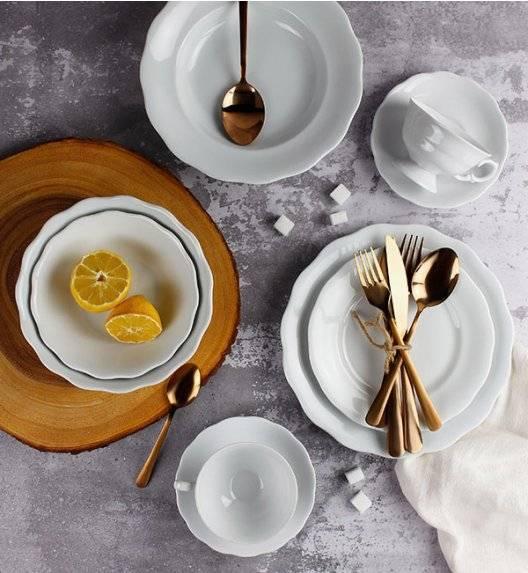 KRISTOFF ALASKA Serwis obiadowo - kawowy 64 el / 12 osób / porcelana