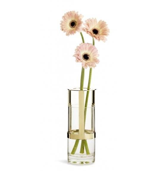 SAGAFORM INTERIOR Szklany wazon z pozłacanym elementem / 8 x 15 cm