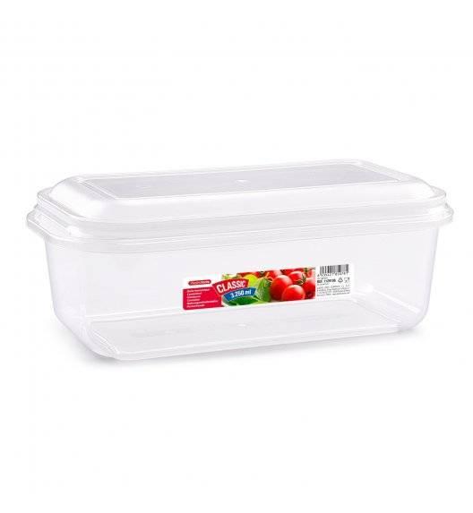 PLASTIC FORTE Pojemnik plastikowy prostokątny / 3,25 L / transparentny / tworzywo sztuczne