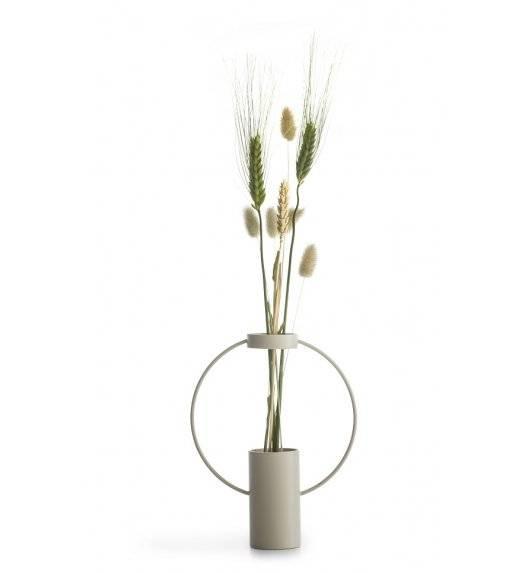 SAGAFORM INTERIOR Metalowy wazon Moon 21 cm / beżowy