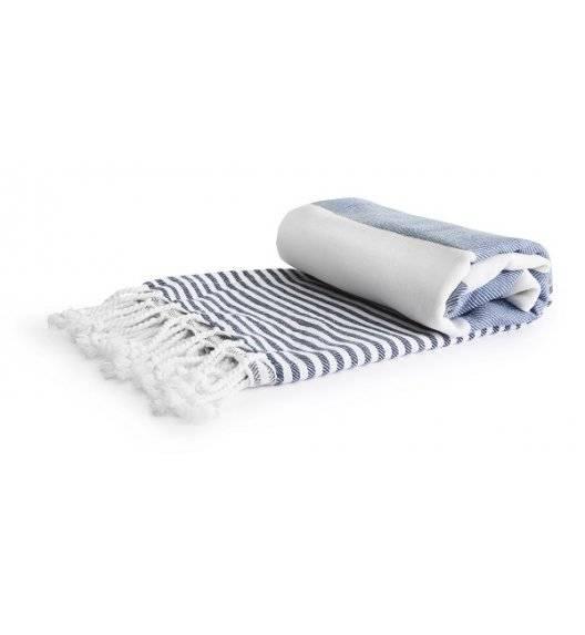 SAGAFORM OUTDOOR Ręcznik piknikowy Hamam Eco / bawełna organiczna / 90 x 170 cm / niebieski