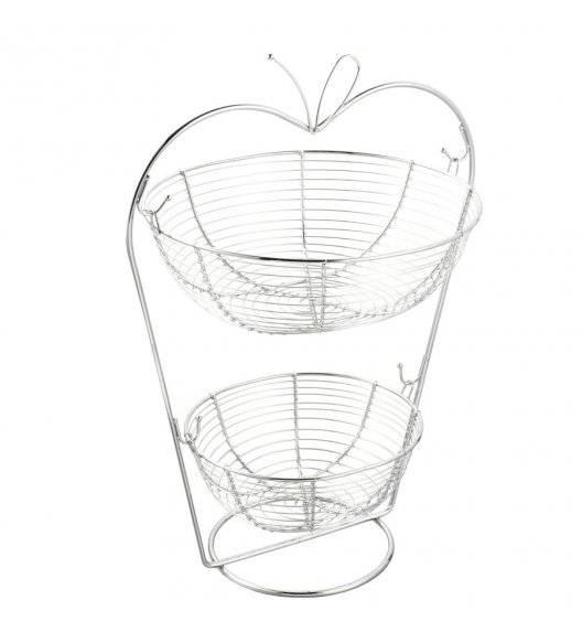 TADAR JABŁKO Metalowy koszyk na owoce / dwupoziomowy