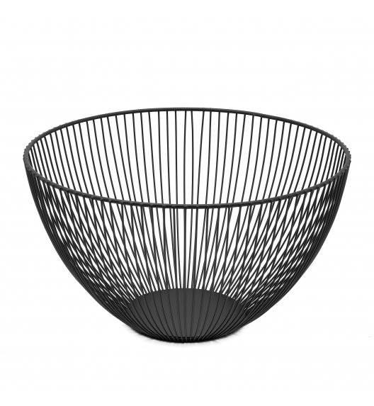 TADAR Koszyk na owoce 25 x 14 cm / czarny