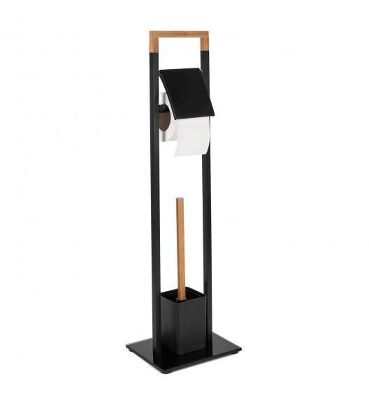 TADAR WOOD Stojak na papier toaletowy + szczotka do wc  / czarny