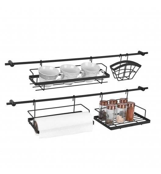 TADAR Reling kuchenny z akcesoriami 76 cm / czarny