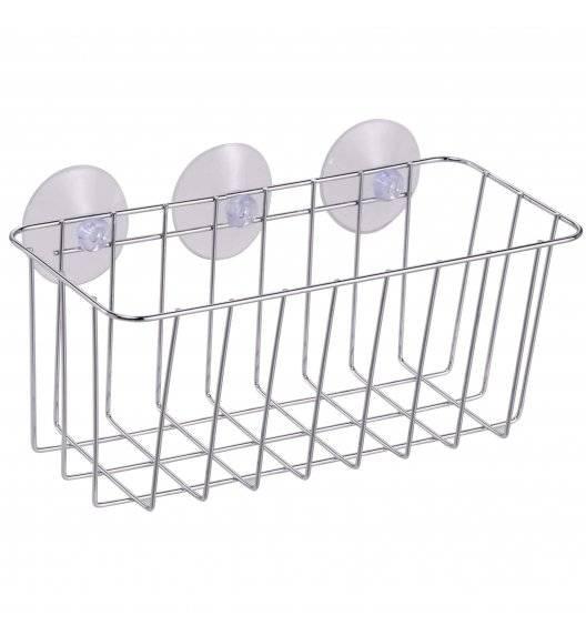 TADAR Koszyk łazienkowy na przyssawce / 23 x 10,5 x 9,7 cm