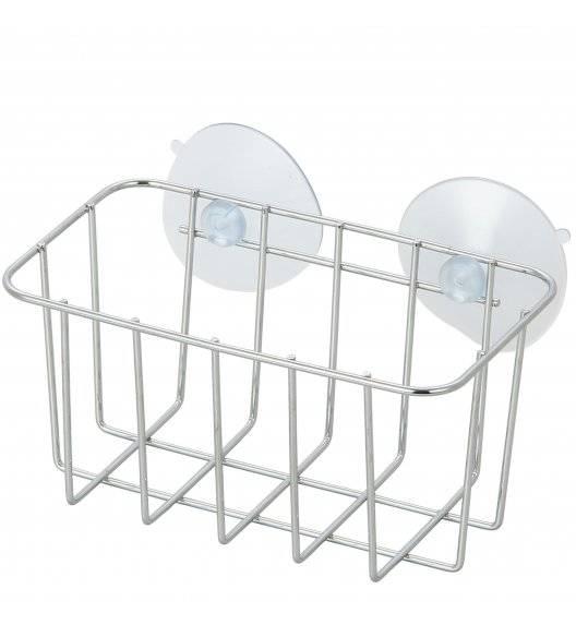 TADAR Koszyk łazienkowy na przyssawce / 15 x 8,5 x 7,5 cm