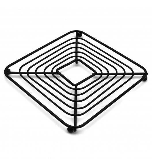 TADAR Druciana podkładka pod gorące garnki / 18 x 1,3 cm / czarna
