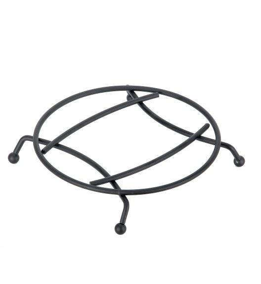 TADAR Druciana podkładka pod gorące garnki / 18,8 x 25 x 3,5 cm / czarna