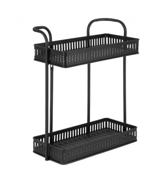 TADAR Dwupoziomowa półka łazienkowa wisząca 37 x 16,5 x 35 cm / czarna