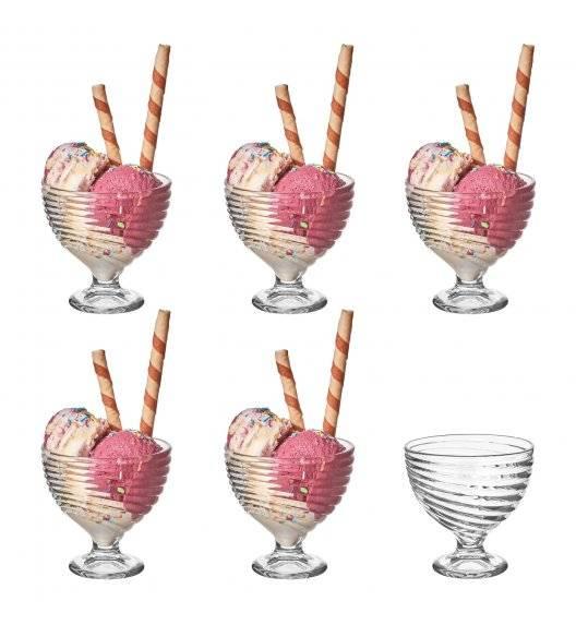 TADAR VESTA Komplet 6 szklanych pucharków deserowych 300 ml