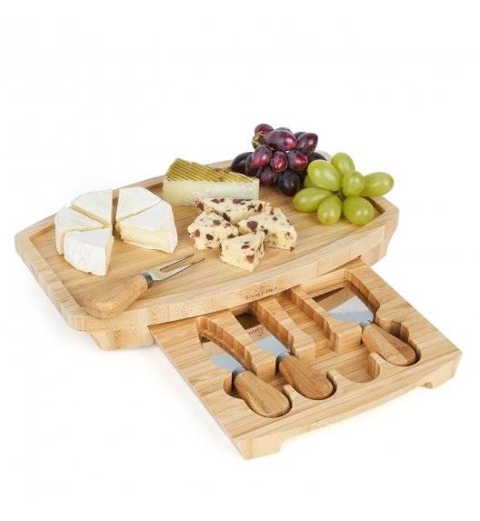 STARKE PRO Deska do sera z 4 akcesoriami do krojenia serów / 32 x 19 x 4,5 cm