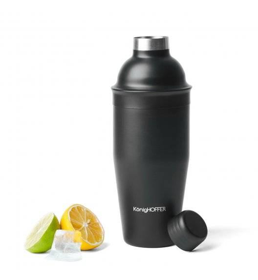 KONIGHOFFER LUX Shaker do drinków / koktajli 750 ml / czarny