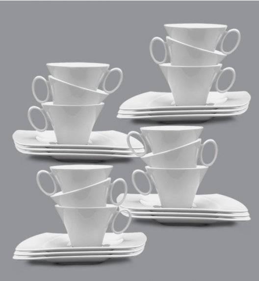 PROMOCJA! LUBIANA WING Komplet Filiżanka 220 ml + spodek 20,5 cm / 12 os / 24 el / porcelana