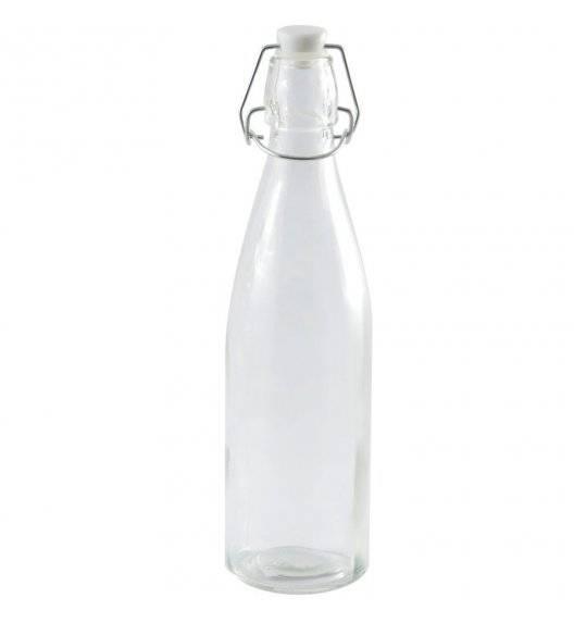 TADAR Szklana butelka z klipsem 500 ml