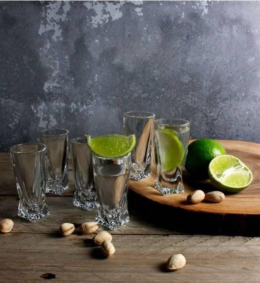 BOHEMIA QUADRO Komplet 12 kieliszków do wódki / szkło kryształowe / CR2A500