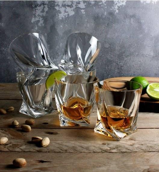 BOHEMIA QUADRO Komplet 12 szklanek do whisky 340 ml / Szkło kryształowe / CR60A500