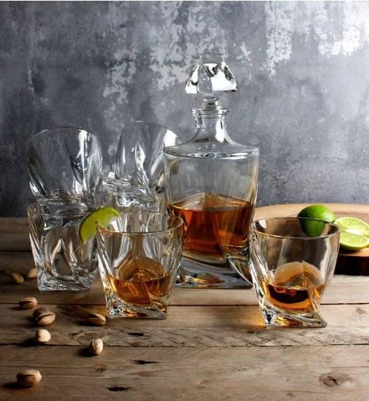 BOHEMIA QUADRO Zestaw do whisky Karafka + szklanki / 13 el / szkło kryształowe CR71A500