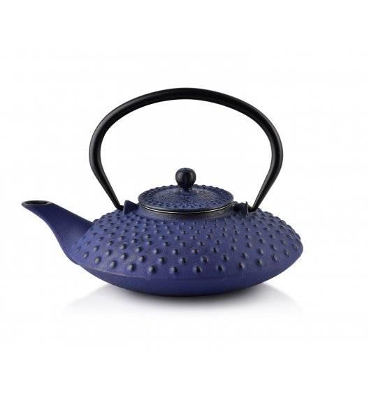 COOKINI ALOR Dzbanek żeliwny z zaparzaczem 800 ml / dark blue