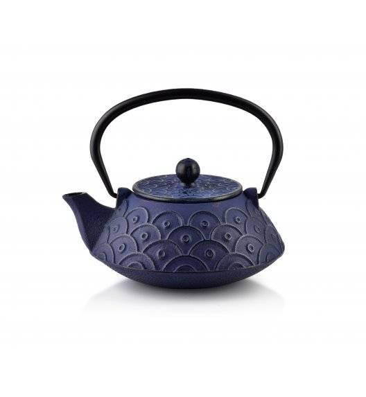 COOKINI ALOR Dzbanek żeliwny z zaparzaczem 800 ml / dark blue&black