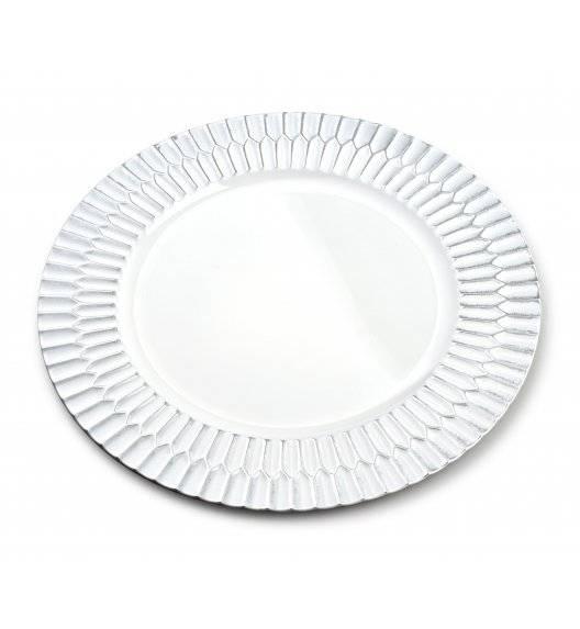 WYPRZEDAŻ! MONDEX BLANCHE COLOURS Podtalerz dekoracyjny 33 x 33 cm / biały / tworzywo sztuczne