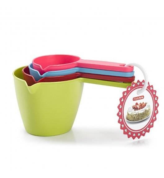 PLASTIC FORTE Zestaw 4 miarek kuchennych / mix kolorów
