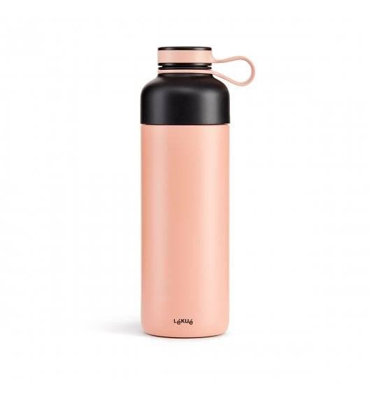 LEKUE TO GO Butelka termiczna 500 ml / różowa / stal nierdzewna