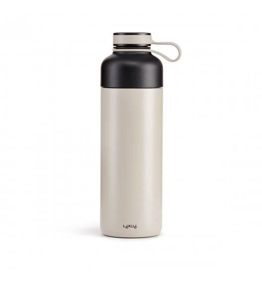 LEKUE TO GO Butelka termiczna 500 ml / szara / stal nierdzewna