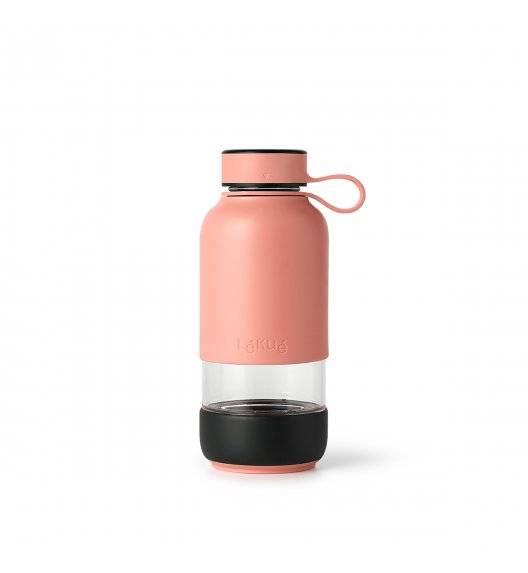 LEKUE TO GO Butelka szklana 600 ml / różowa