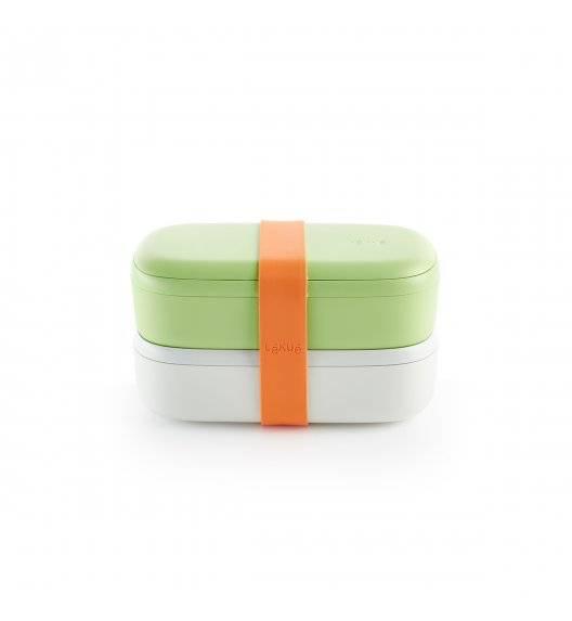 LEKUE TO GO Lunchbox / pojemnik śniadaniowy 2 x 500 ml / limonkowy