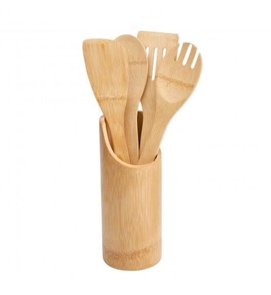 TADAR Zestaw 4 przyborów kuchennych z bambusowym pojemnikiem