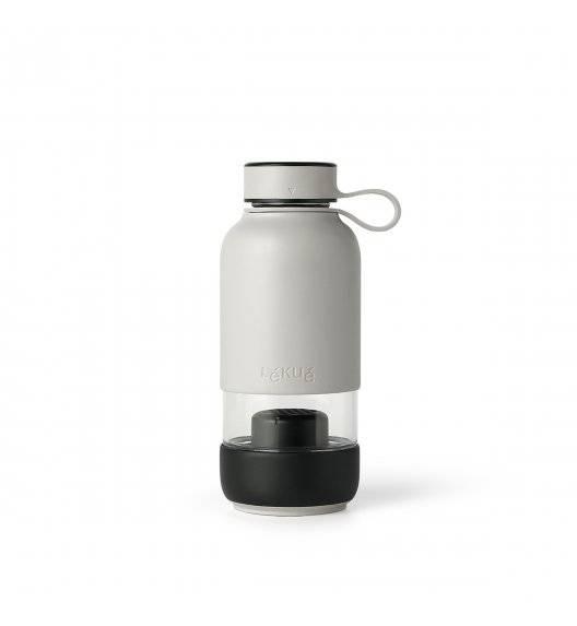 LEKUE TO GO Butelka szklana 600 ml / szary
