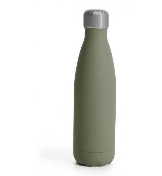 SAGAFORM TO GO Termiczna butelka stalowa zielona matowa gumowana 0,5 l
