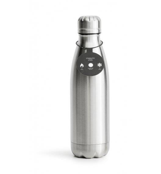 SAGAFORM TO GO Termiczna butelka stalowa srebrna 0,5 l