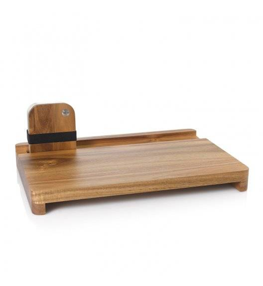 AdHoc COTTO Deska 48 x 25 cm + lunchbox / pojemnik śniadaniowy 600 ml / stal + drewno akacjowe