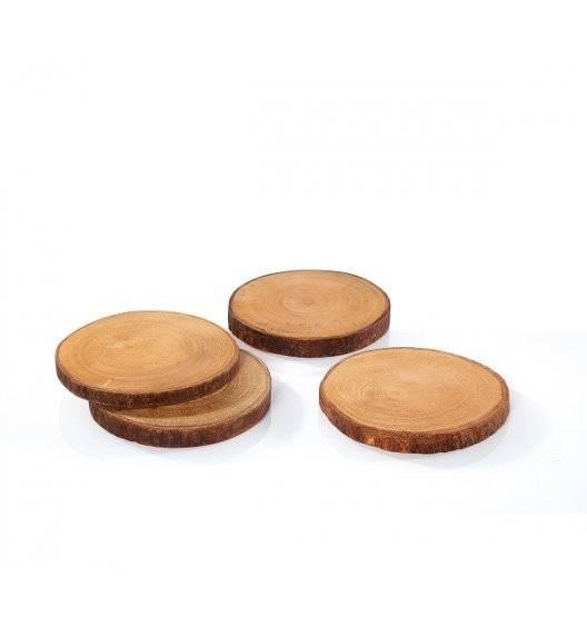 ZASSENHAUS Zestaw 4 podkładek / plastry z drewna mango / 10 cm