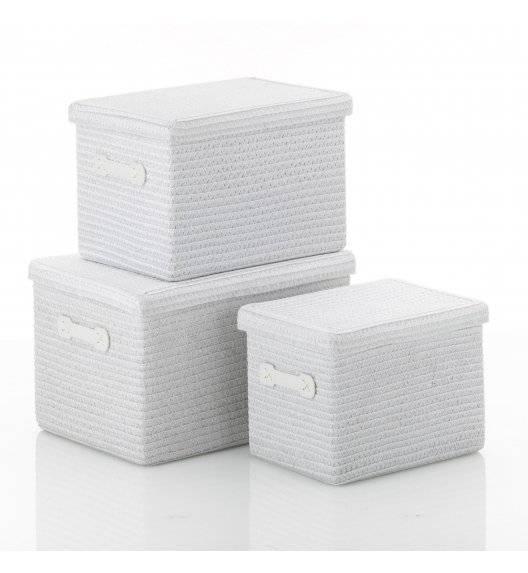 KELA RIMOSSA Komplet 3 koszy z pokrywką biały / tworzywo sztuczne PP
