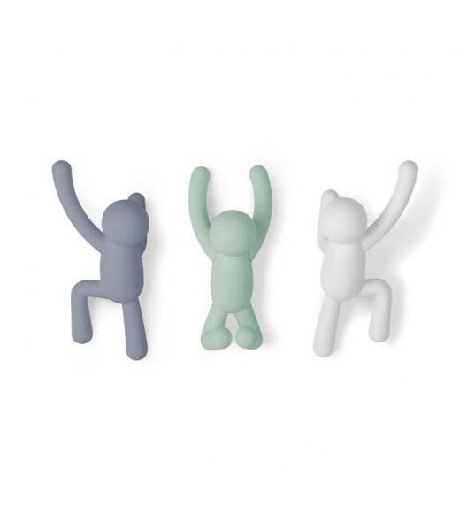 UMBRA BUDDY Komplet 3 wieszaków w kształcie ludzików / tworzywo