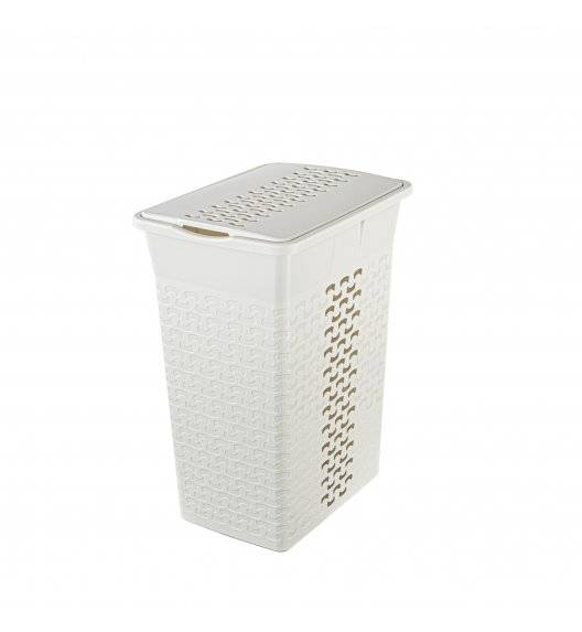 BRANQ COTTON 1413 Prostokątny kosz na bieliznę 55 L / biel antyczna